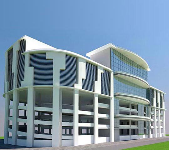 Construction of Rajmahal Square Multilevel Car Parking